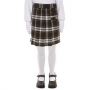 Brown Plaid Skort