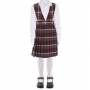 Burgundy Plaid Jumper: Sizes 7-14